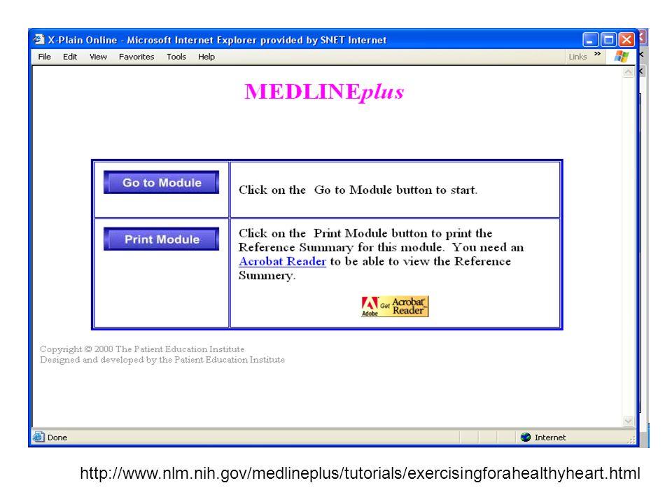 http://www.nlm.nih.gov/medlineplus/tutorials/exercisingforahealthyheart.html