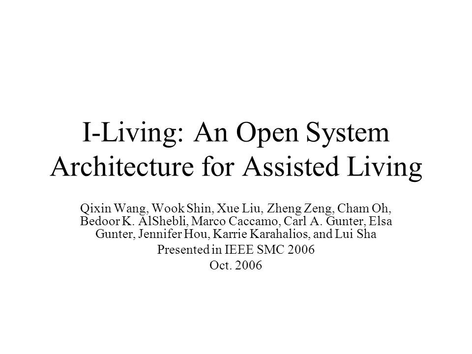 I-Living System Architecture Design (Cellphone Mode) This also allows assisted-living service when the AP is out-of- home