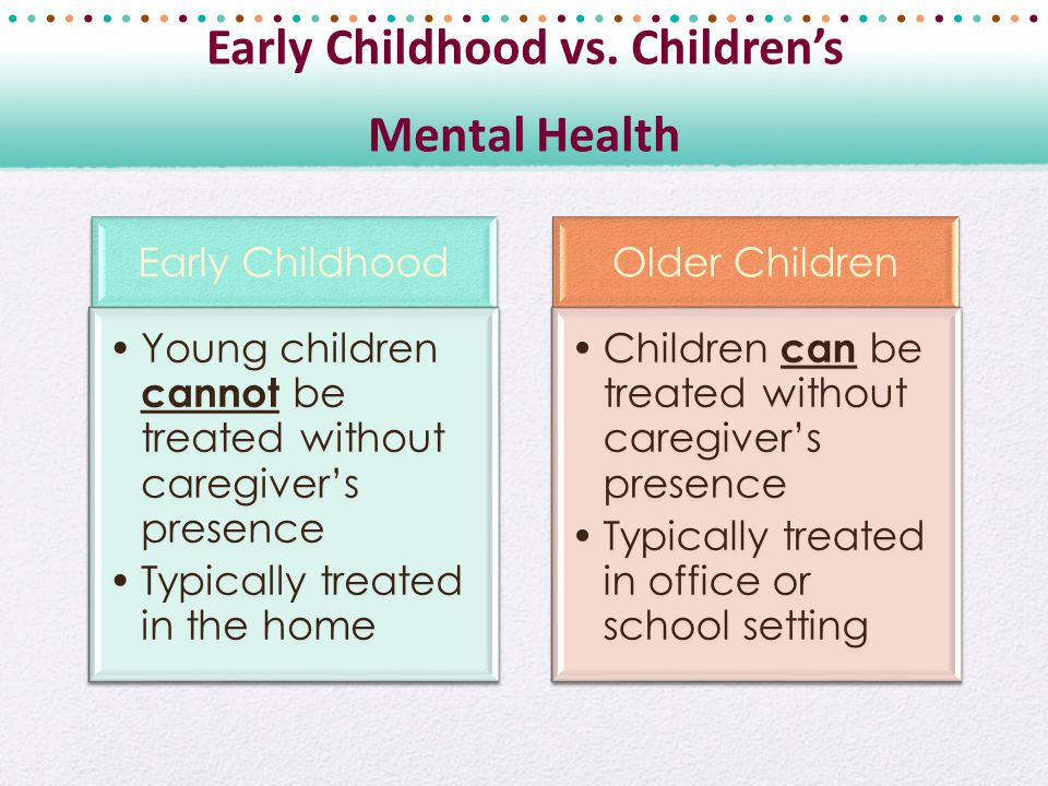 Early Childhood vs.