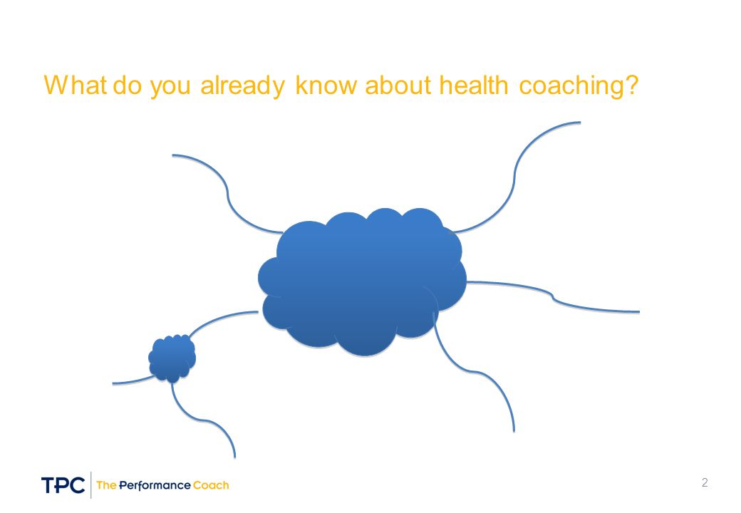 What do you already know about health coaching? 2