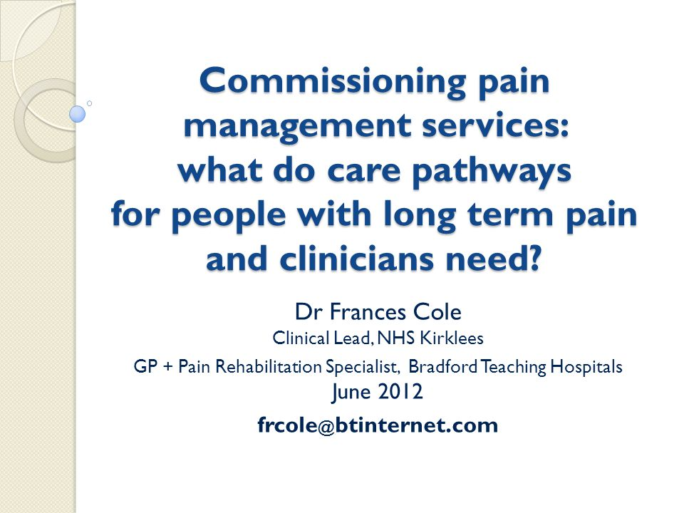 Key messages People with pain must be taken seriously!!!!.