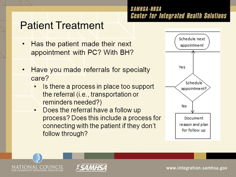 Patient Treatment Has the patient made their next appointment with PC.