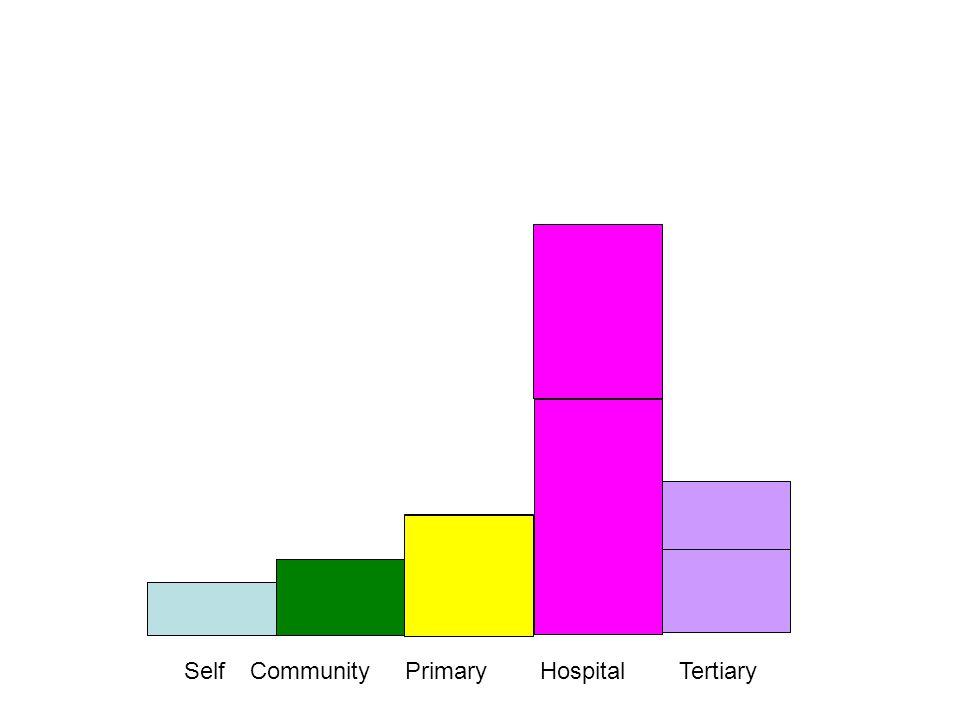 SelfCommunityPrimaryHospitalTertiary