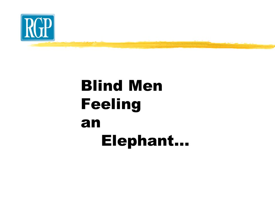 Blind Men Feeling an Elephant...