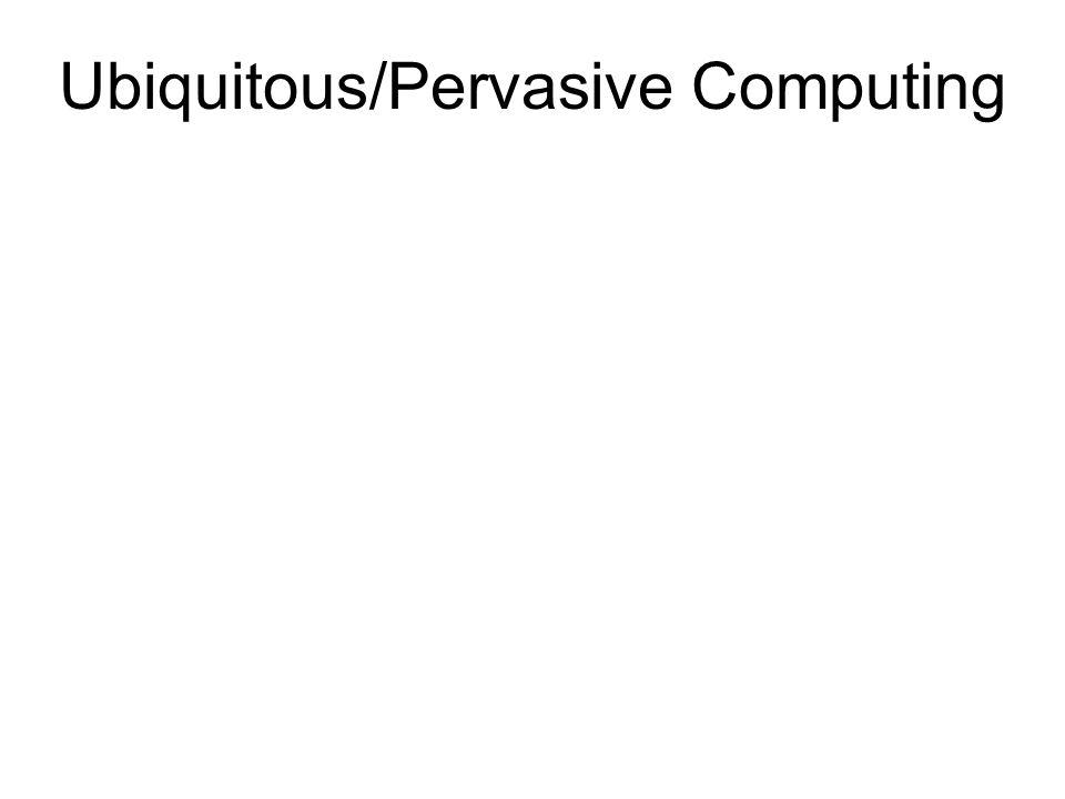 Ubiquitous/Pervasive Computing