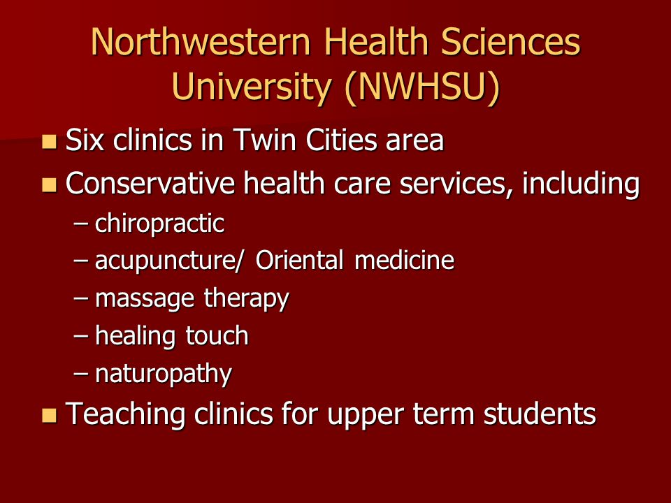 Best Practices at NWHSU: Precipitating Events Council on Chiropractic Guidelines and Practice Parameters Council on Chiropractic Guidelines and Practice Parameters MN State Legislative Initiative MN State Legislative Initiative NWHSU NWHSU –Mission –Guiding principles and values –Strategic goals