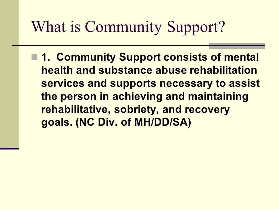 What is Community Support. 1.