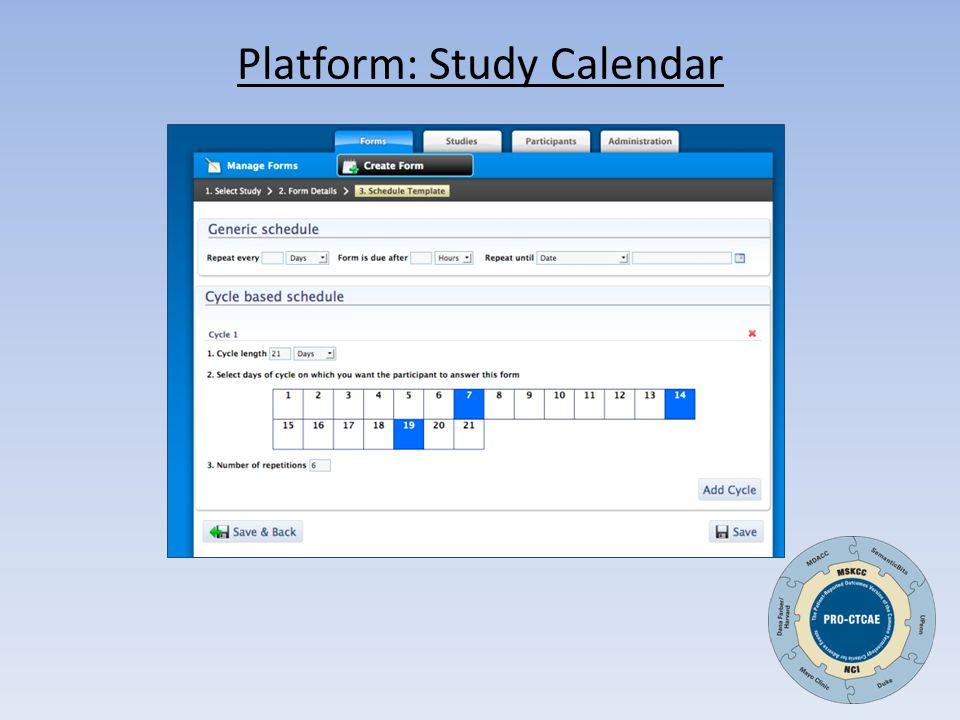 Platform: Study Calendar