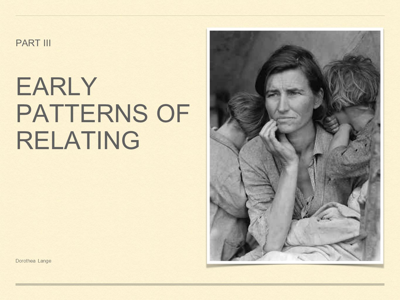 ATTACHMENT PATTERNS PERSIST ACROSS CULTURES: STYLE MAY DIFFER BUT FUNCTION IS CONSTANT