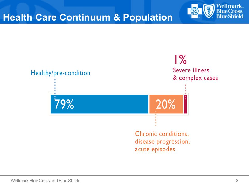 Health Care Continuum & Population Wellmark Blue Cross and Blue Shield3