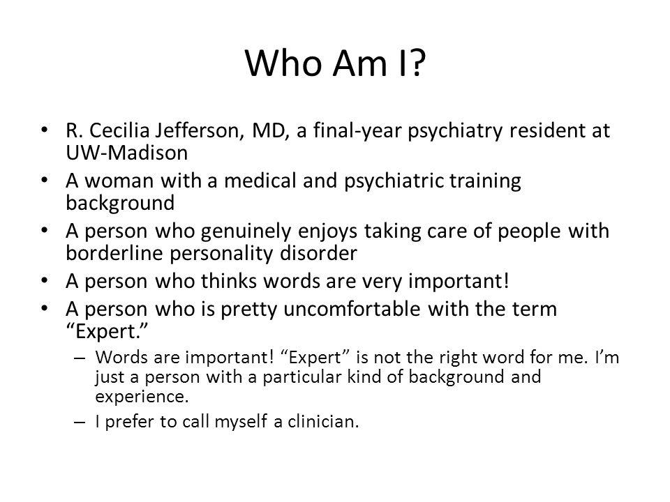 Who Am I. R.