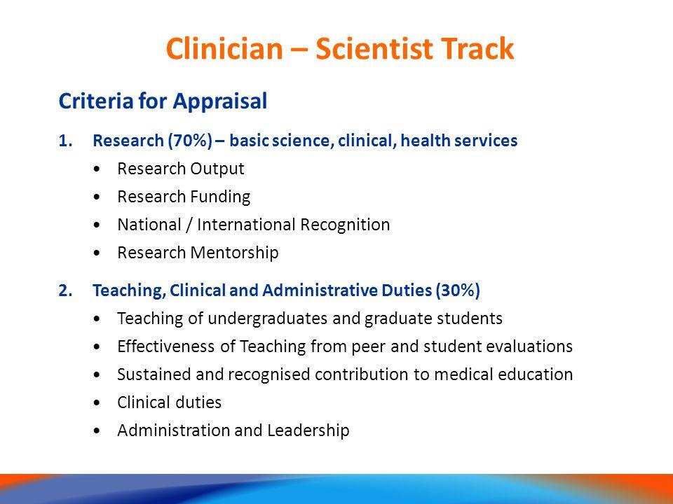 Clinician – Scientist Track