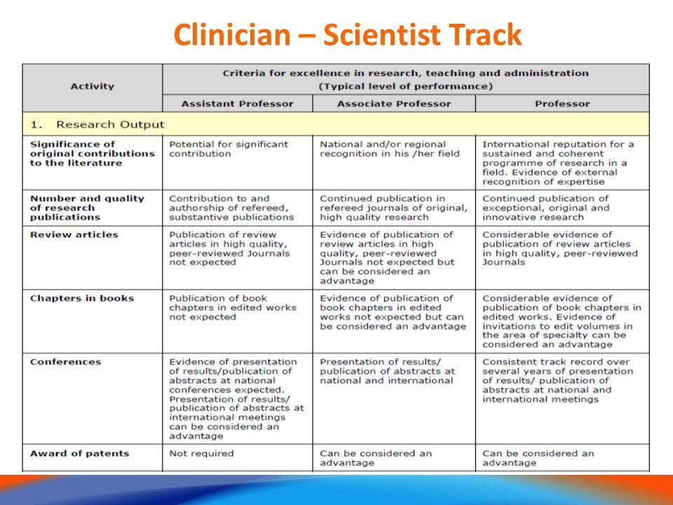 10 Clinician – Scientist Track