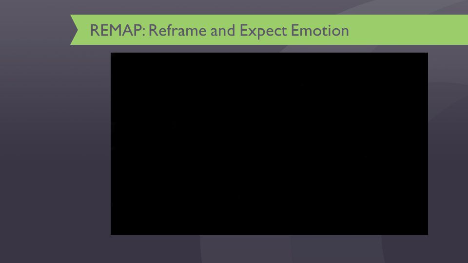 REMAP: Reframe and Expect Emotion