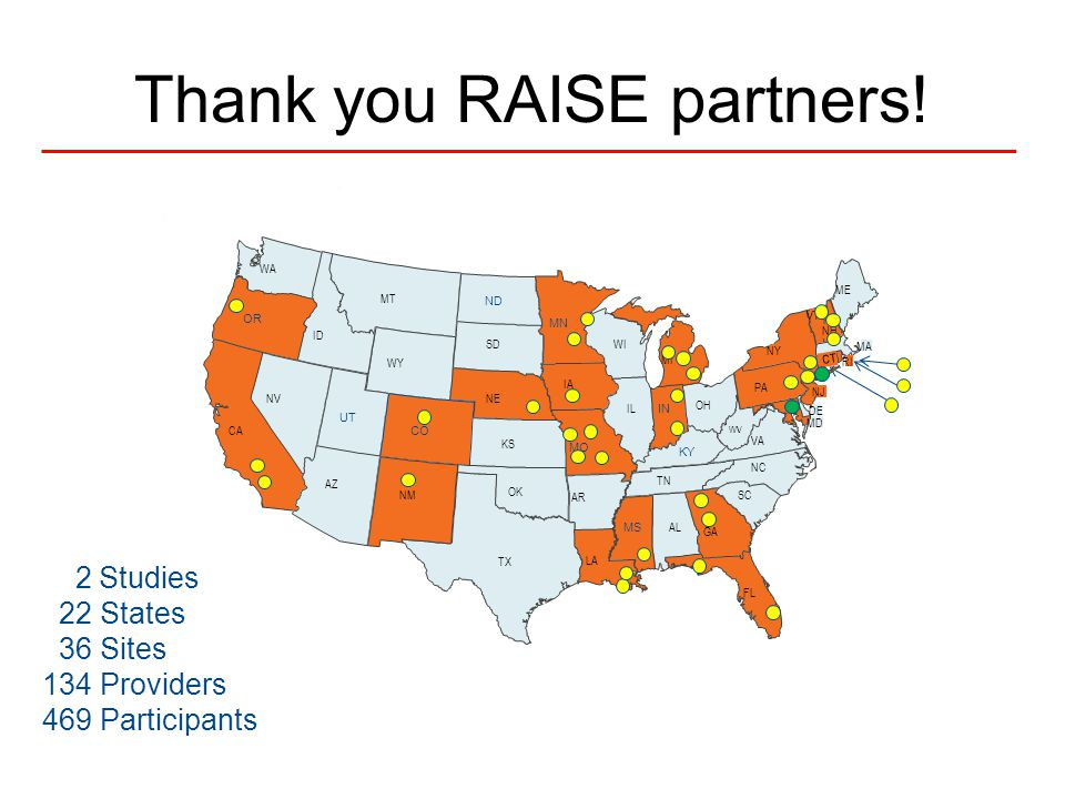 Thank you RAISE partners.