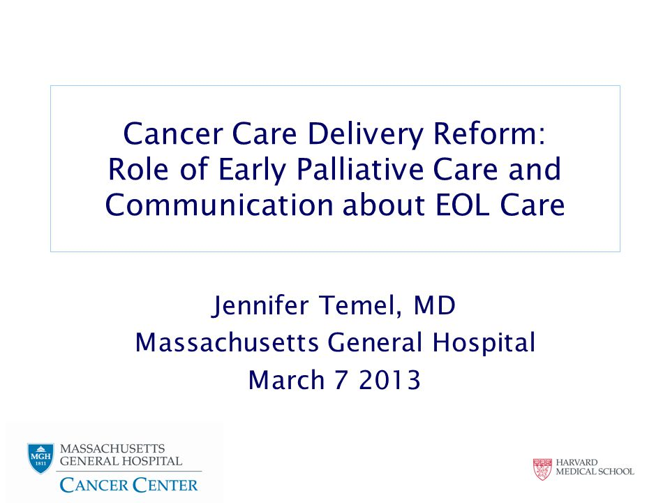 Making the Case for Cancer Care Delivery Reform in Oncology 1.