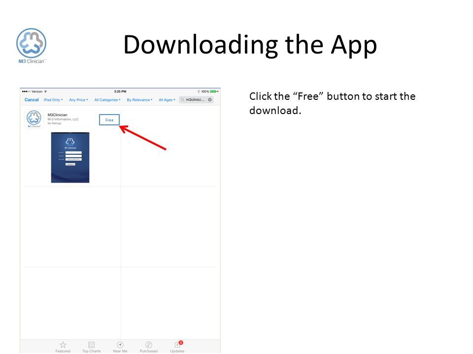 """Downloading the App Click the """"Free"""" button to start the download. Free"""