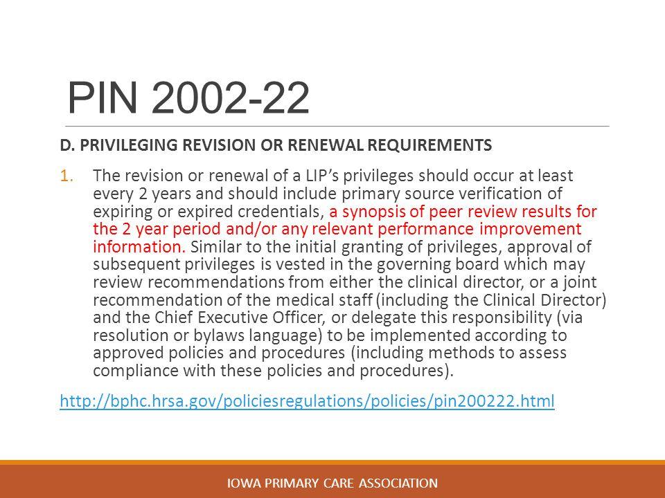 PIN 2002-22 D.