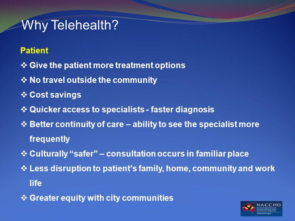 Why Telehealth.