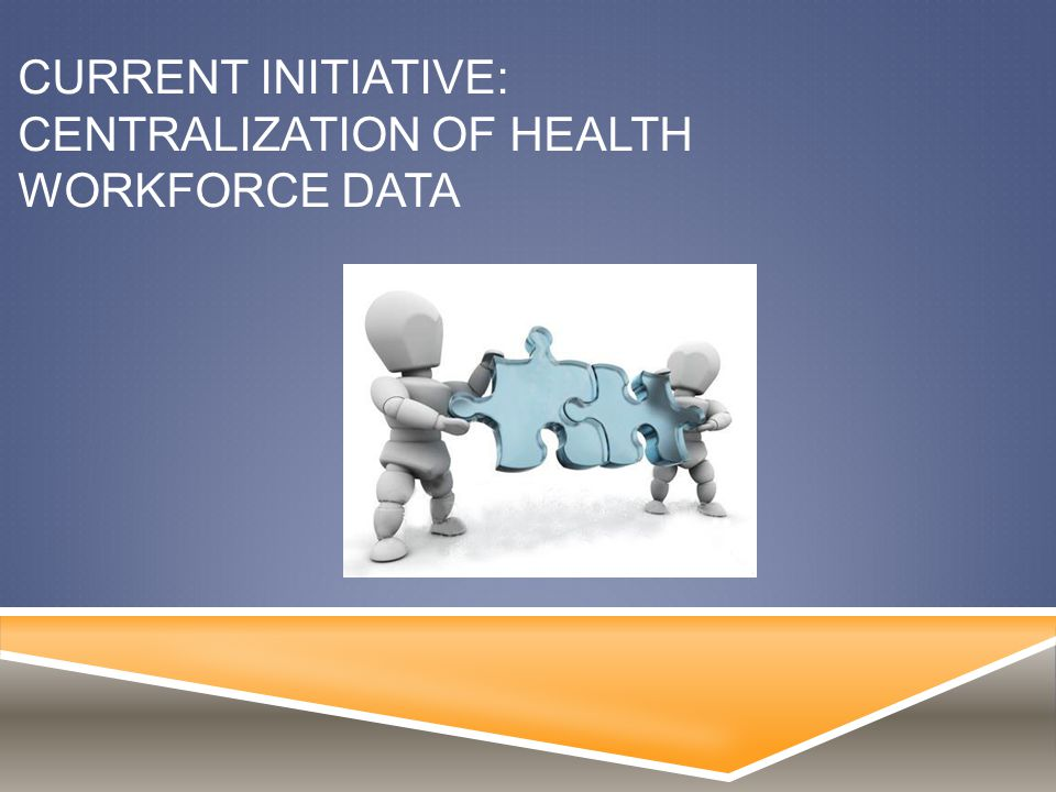 CURRENT INITIATIVE: CENTRALIZATION OF HEALTH WORKFORCE DATA