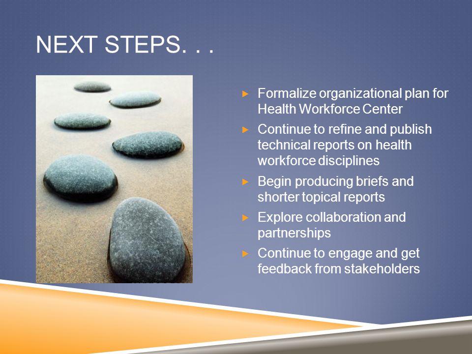 NEXT STEPS...