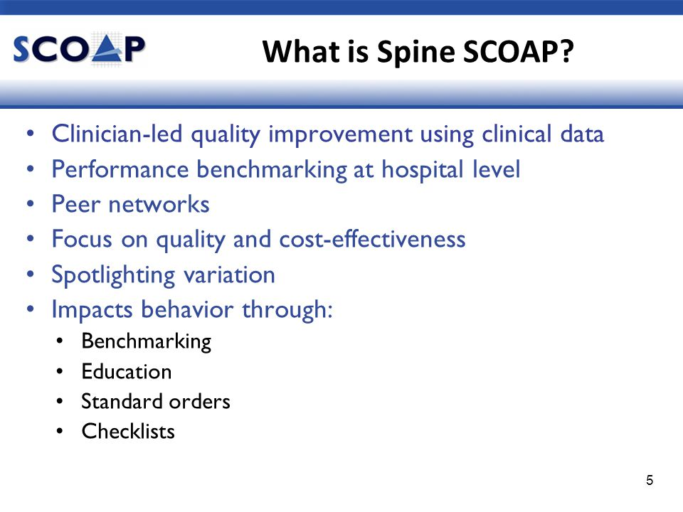 Who runs Spine SCOAP.