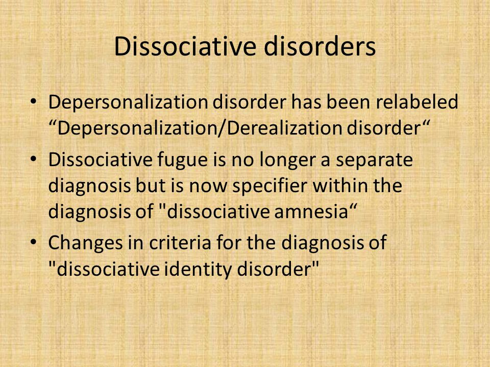 Anxiety disorders Obsessive-compulsive disorder has been moved out of this category PTSD has been moved out of this category Acute stress disorder has been moved out of this category Changes in criteria for specific phobia and social anxiety have been made Panic attacks can now be used as a specifier within any other disorder in the DSM Separation anxiety disorder has been moved to this group Selective mutism has been moved to this group