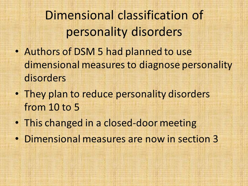 Primary Criteria in DSM 5 (Unchanged from DSM-IV TR) A.Enduring pattern of inner experience & behavior that deviates markedly from expectations of the culture.