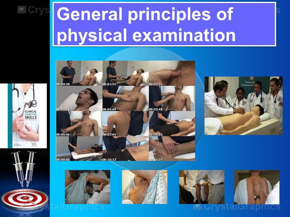 General principles of physical examination