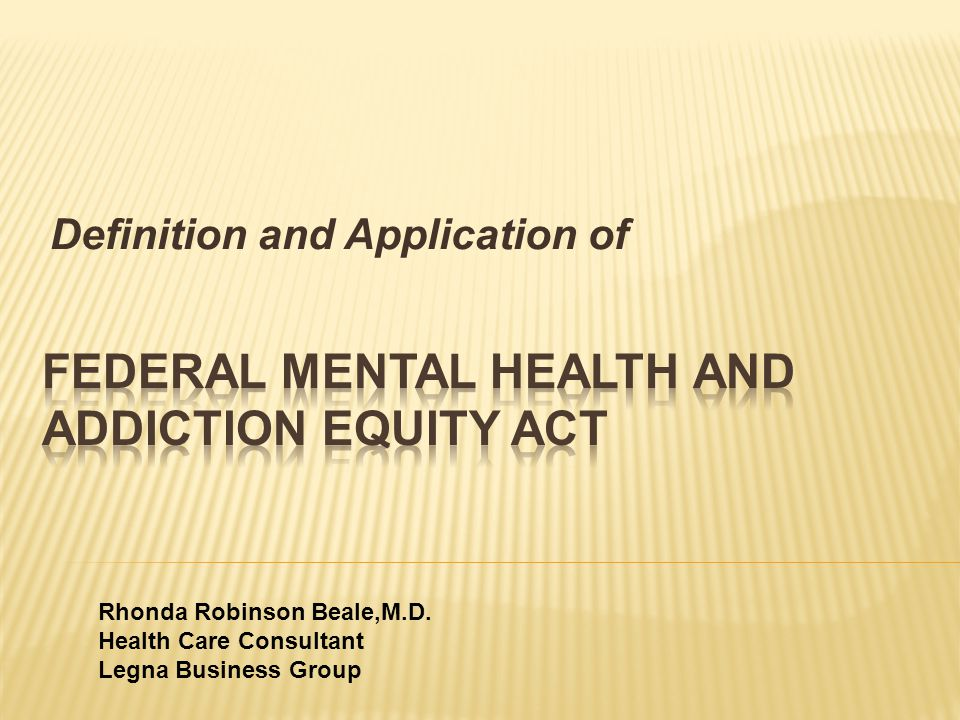 Definition and Application of Rhonda Robinson Beale,M.D.