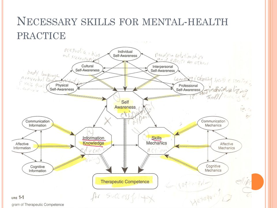 N ECESSARY SKILLS FOR MENTAL - HEALTH PRACTICE