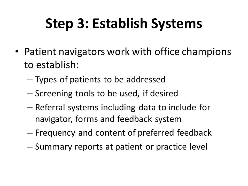 Step 4: Identify the Patients There are two steps for identifying patients for referral: 1.Does the patient fit the physiological profile of someone who can benefit from community resources.