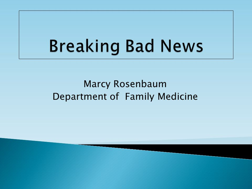 Marcy Rosenbaum Department of Family Medicine