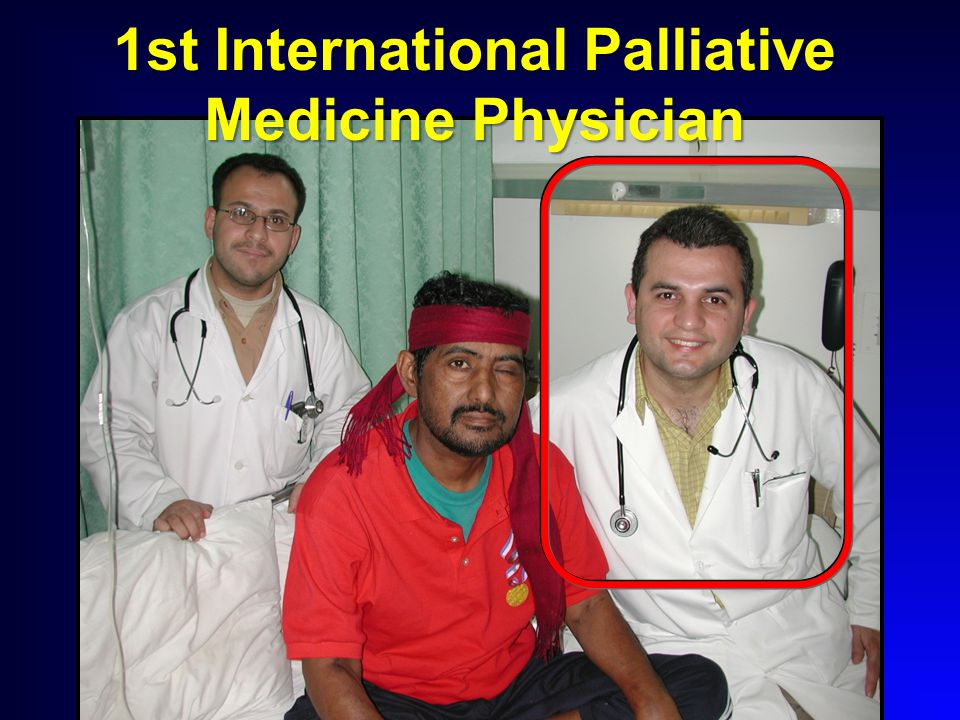 1st International Palliative Medicine Physician