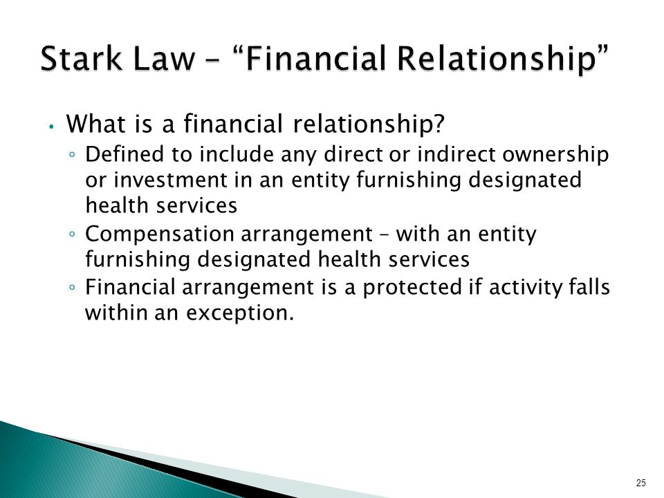 What is a financial relationship.
