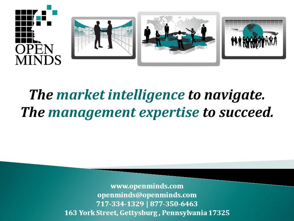 www.openminds.com openminds@openminds.com 717-334-1329 | 877-350-6463 163 York Street, Gettysburg, Pennsylvania 17325 The market intelligence to navigate.
