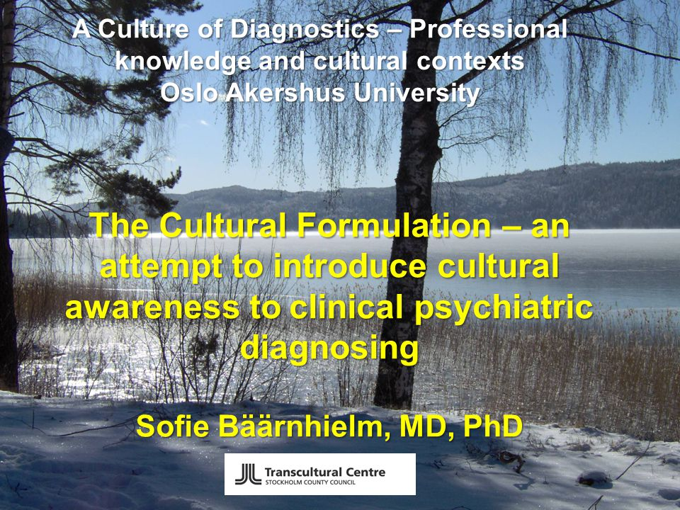The Cultural Formulation Interview 16 questions Any patient, any setting, especially: cases of social and cultural differences difficulties evaluating symptoms difficulties evaluating severity and impairment disagreement over course of care limited engagement in treatment
