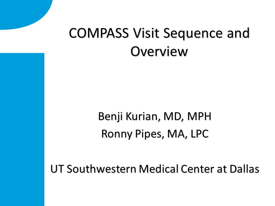 Compass Welcome Screen Click on your clinic name: AMHC Is the center we'll use for training Click on your clinic name: AMHC Is the center we'll use for training