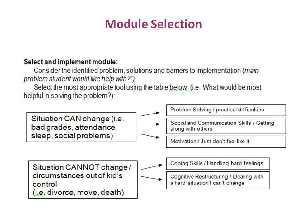 Module Selection