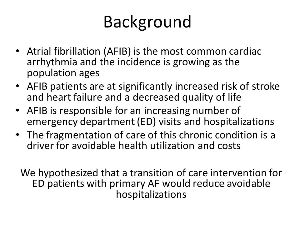 Hospital Rates for Atrial Fibrillation Tran et. al, 2015