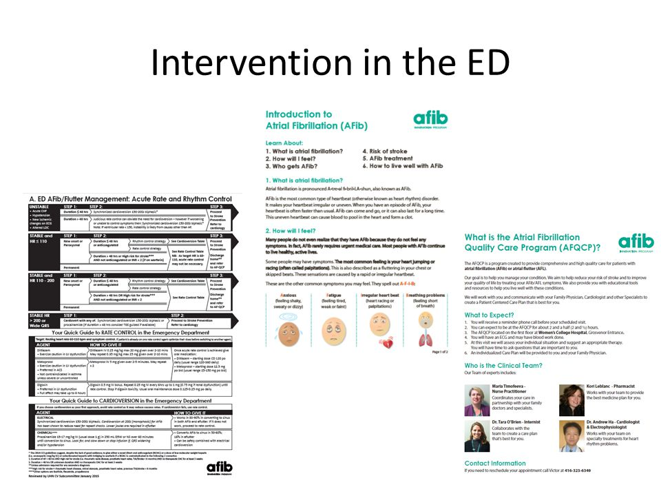 Intervention in the ED