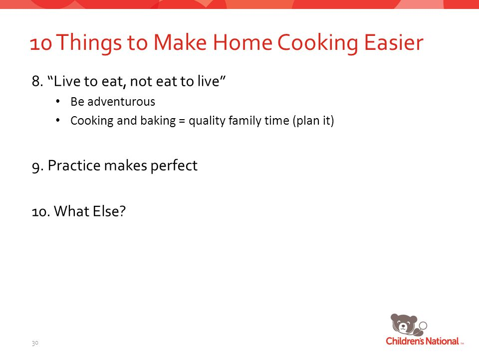 10 Things to Make Home Cooking Easier 8.