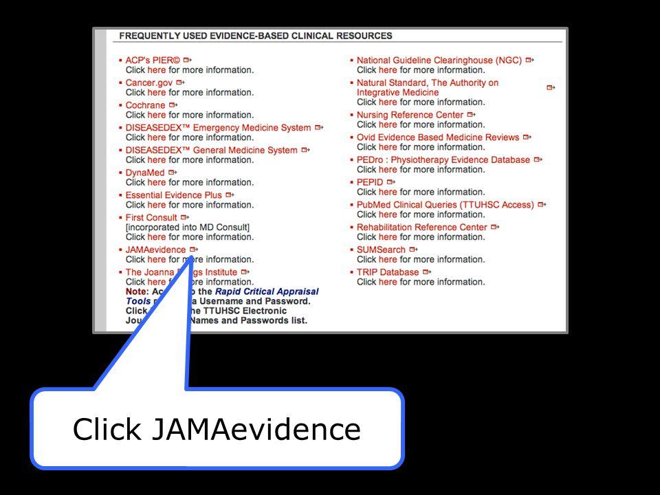 Click JAMAevidence