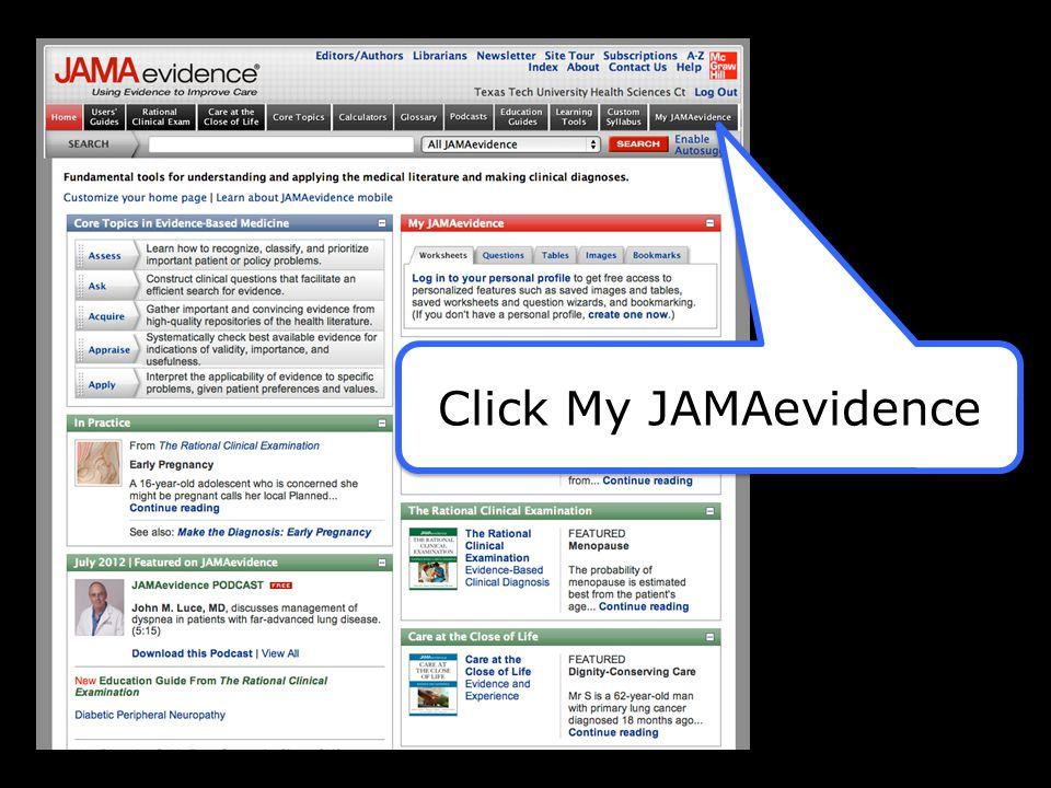 Click My JAMAevidence