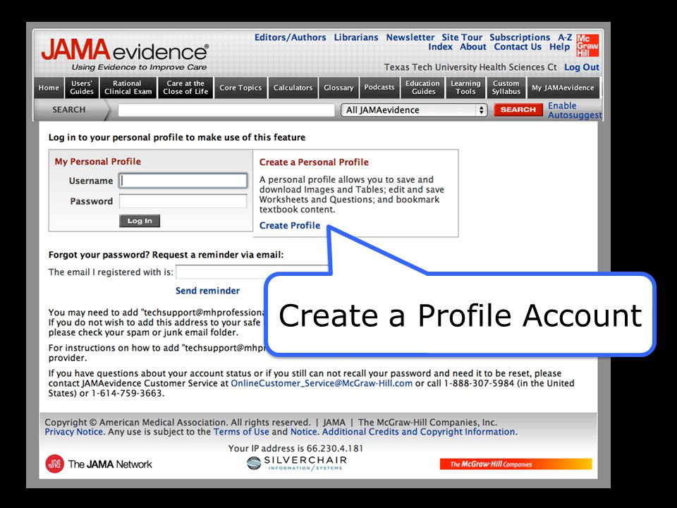 Create a Profile Account