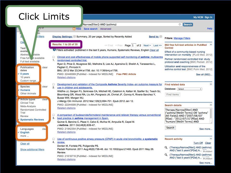 Click Limits