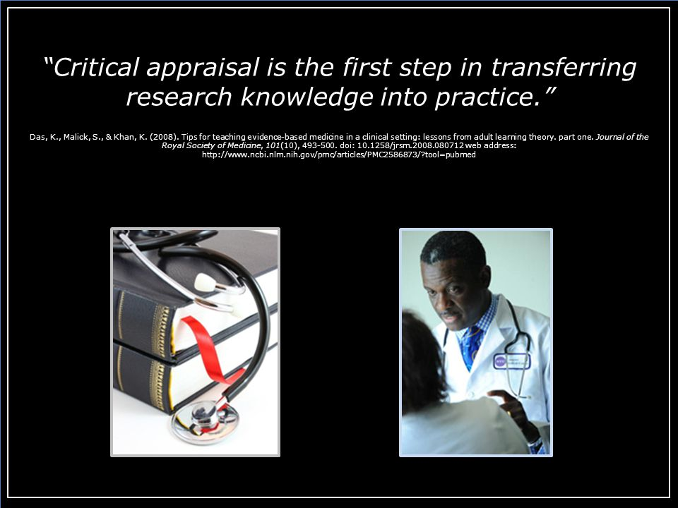 Conclusion In this module, we have considered and applied some basic skills in evaluating the validity of a clinical study.