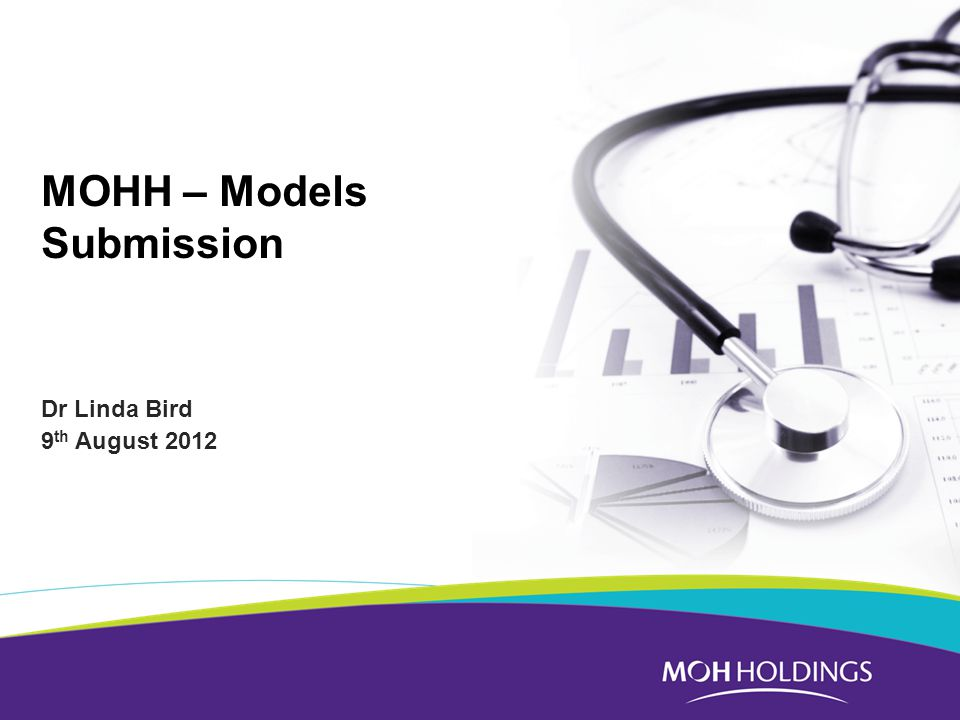 MOHH – Models Submission Dr Linda Bird 9 th August 2012