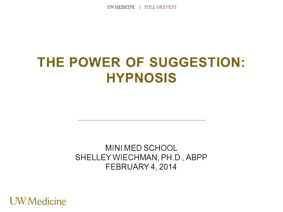 I.Definition II.History III.What exactly is hypnosis.