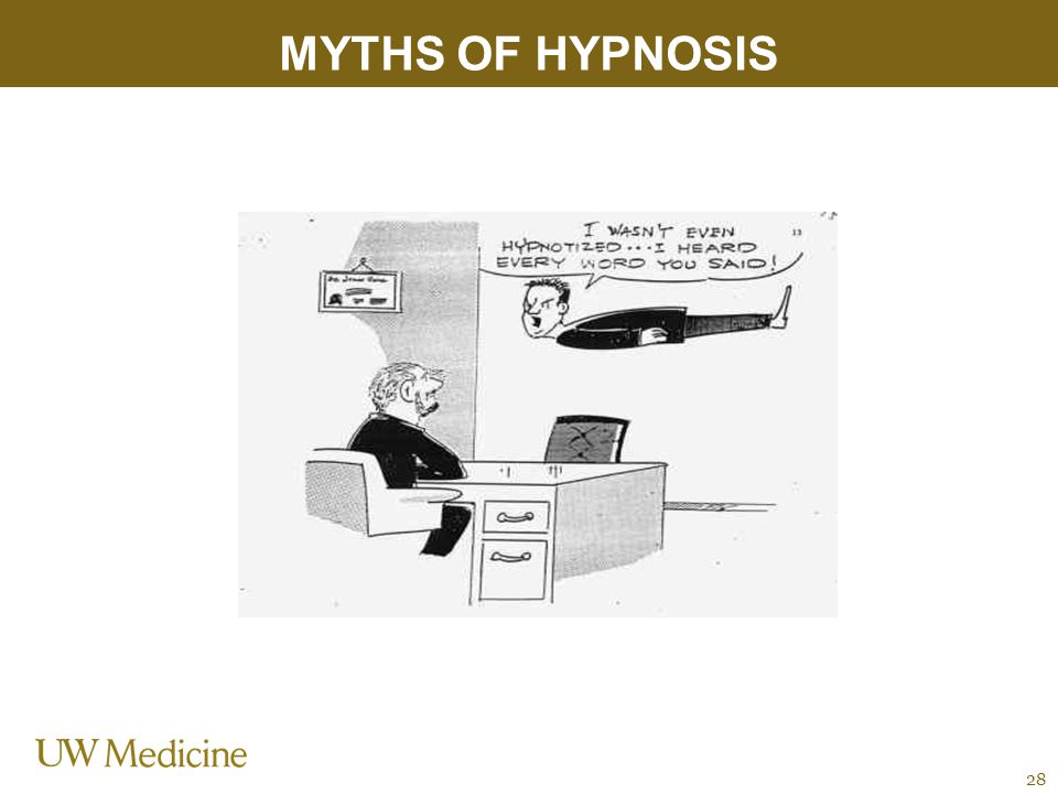 MYTHS OF HYPNOSIS 28